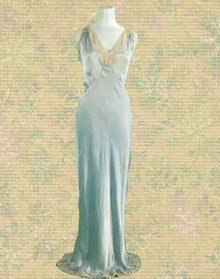 Beautiful rare vintage silk nightgown
