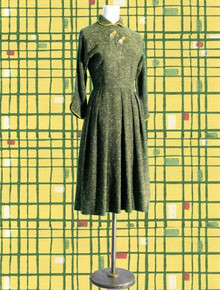 Stunning tweed-look 1950s day dress