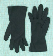 Basic black short gloves