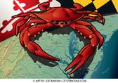 Red Crab Garden Flag