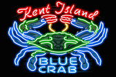 Kent Island Blue Crab Neon Poster
