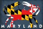 MD Crab Flag Coaster