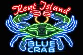 KI Blue Crab Neon Coaster
