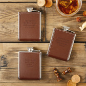 6 Ounce Leather Flask