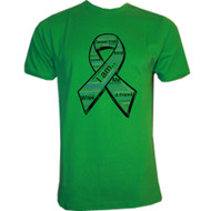 M-Pact- Cancer Free 3D - Womens - Green T-shirt