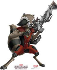 Guardians of the Galaxy - Animated Series - Rocket Raccoon - Cardboard Stand Up