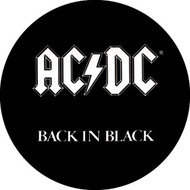 "AC/DC - Back In Black - 1"" Button"