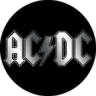 "AC/DC - Chrome Logo - 1"" Button"