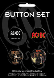 AC/DC - Assorted 3 - Button Set