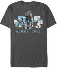 Star Wars Rogue One  - AT-ACT Logo - Mens T-shirt