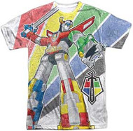 Voltron - Mighty Robot - Mens Sublimated Tee