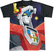 Voltron - Space - Black Back - Mens Sublimated Tee