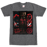 Daredevil - Collage - Mens - Charcoal - T-shirt