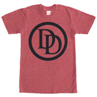 Daredevil - Logo - Red Heather - Mens T-shirt