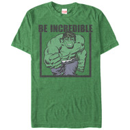 Hulk - Be Incredible - Mens T-shirt