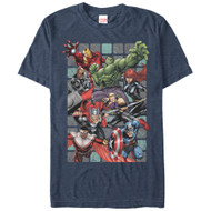 Marvel - Assemble Squares - Mens T-shirt