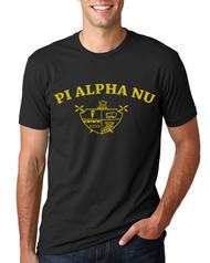 Pi Alpha Nu - Retro 70s - Crest - Mens T-shirt