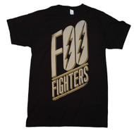 Foo Fighters - Slanted Logo - Slim Fit - Mens - T-shirt