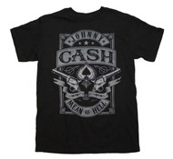 Johnny Cash - Mean as Hell - Mens - T-shirt