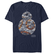 Star Wars | BB8 Words | Mens T-shirt |