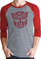 Transformers | Autobots Logo Simple 3/4 Sleeve | Mens T-shirt