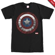 Captain America | Detailed Shield | Mens T-shirt