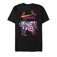 Marvel | MLB | St. Louis Cardinals | Cardinal Group | Mens T-shirt