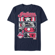 Marvel | MLB | Cleveland Indians | Hero Squad | Mens T-shirt