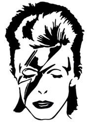 David Bowie | Ziggy Stardust | Rub On Sticker
