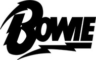 David Bowie | Lightening Logo | Rub On Sticker