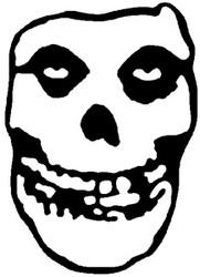 Misfits | Classic Skull | Rub On Sticker