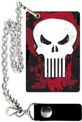 Punisher | Skull | 4.5in x 3in | Chain Wallet