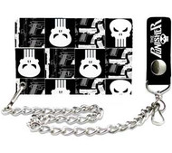 Punisher | Skulls | 4in x 3in | Chain Wallet