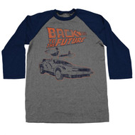 Back To The Future - Delorean - Raglan