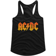 AC/DC | Distress Orange | Tank Top