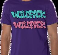 WildPack | Dual Logo |  Men's T-shirt | Purple