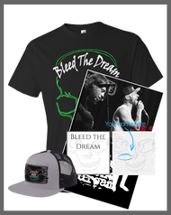 Bleed The Dream | New EP | Green Skull Men's T-shirt | Poster | Hat