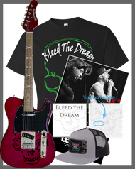 Bleed The Dream | New EP | Green Skull Men's T-shirt | Poster | Hat | Guitar