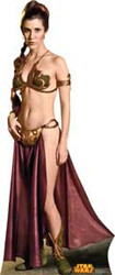 Princess Leia Slave Girl Cardboard Stand Up