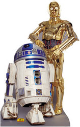 C3PO and R2D2 Cardboard Stand Up
