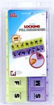 Child Resistant Locking 14-Day Pill Reminder