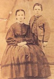 Postcard - Almanzo and Alice Wilder