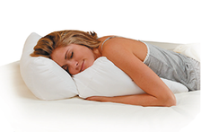Snuggle up with the Flip Pillow in any position