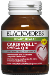 CardiWell Omega Q10 60 Caps Blackmores