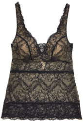 ALL LACE CLASSIC BUILT-UP CAMI BLACK