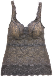 ALL LACE CLASSIC BUILT-UP CAMI ICELANDIC GREY