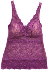 ALL LACE CLASSIC BUILT-UP CAMI PURPLE ROSE