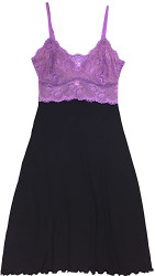 HOME APPAREL LACE CUP BALLERINA GOWN BLACK W/ IRIS LACE