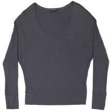 HOME APPAREL DOLMAN SLEEVE TOP SLATE