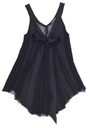 SILK WITH LEAVERS LACE LILA BABYDOLL BLACK